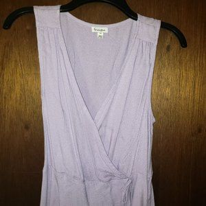 Lilac Sleeveless Wrap-style Top
